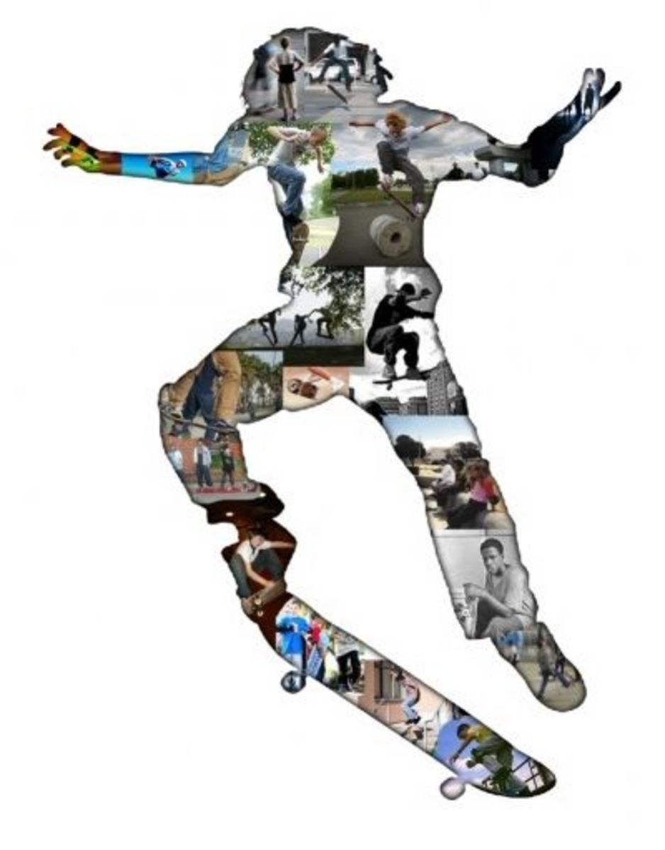 Favorite Shape Collage - Skateboarder