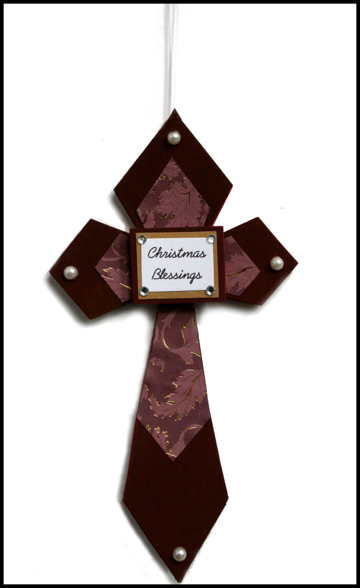 "Approx. 8"" x 4"" foam craft cross"