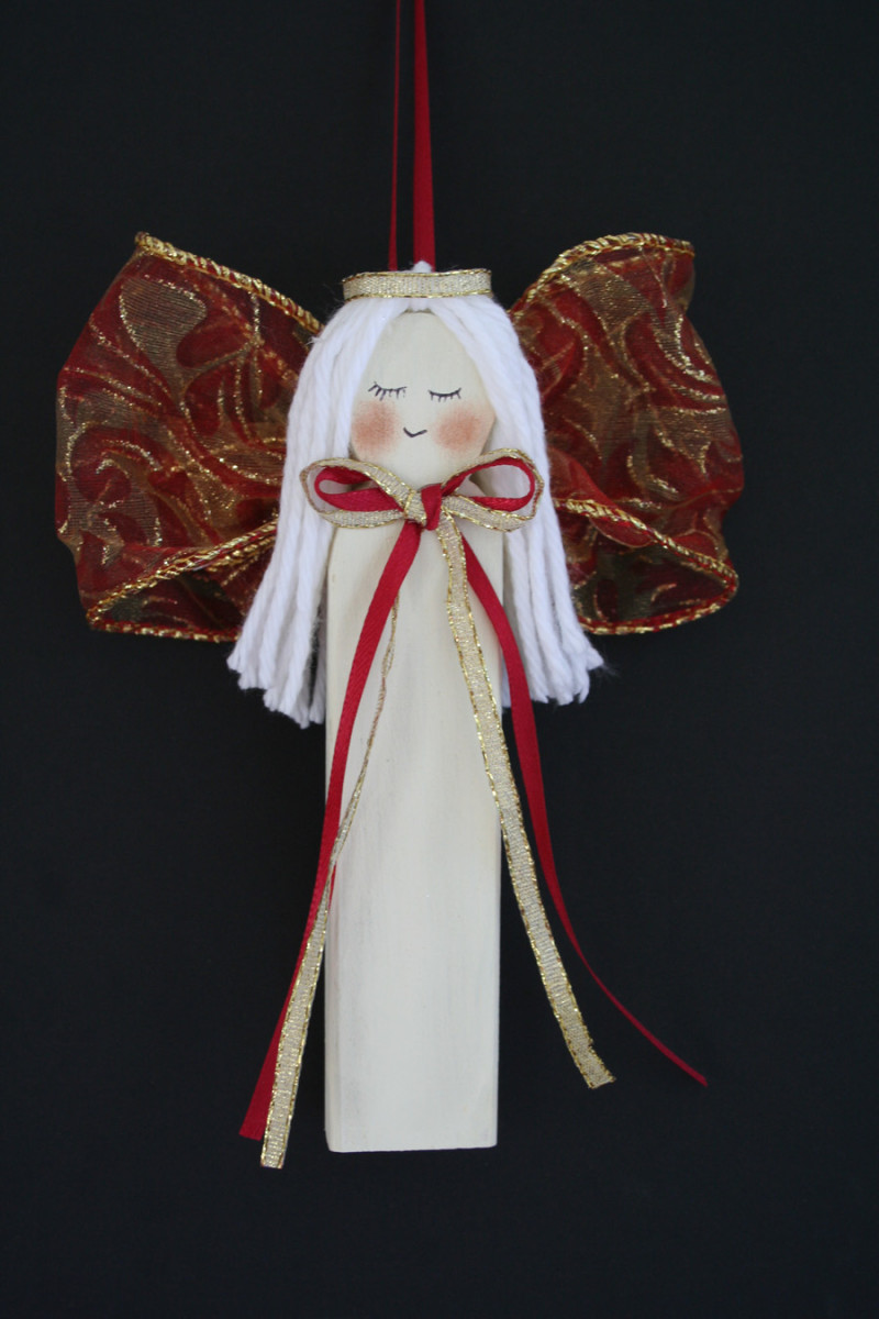 Beautiful Wooden Angel
