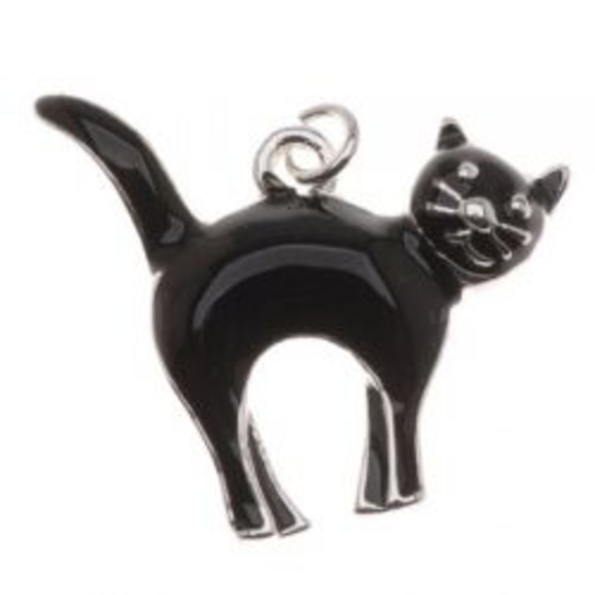 Make A Black Cat Necklace