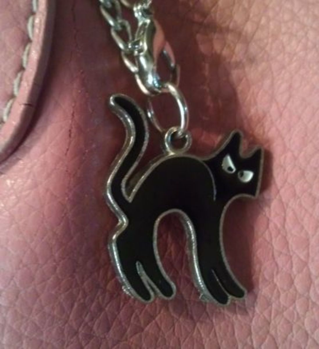 Black Cat Purse Charm