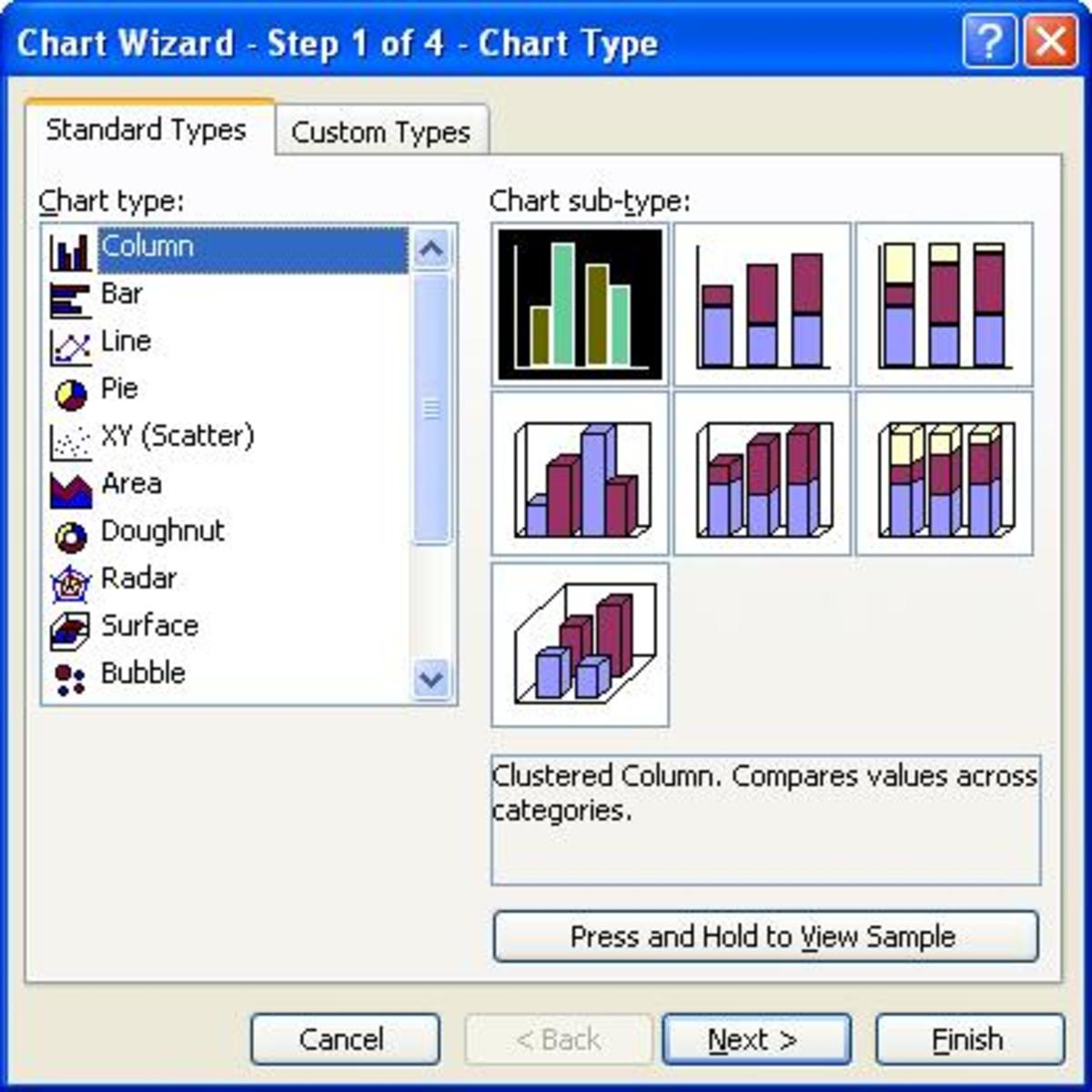 The chart wizard