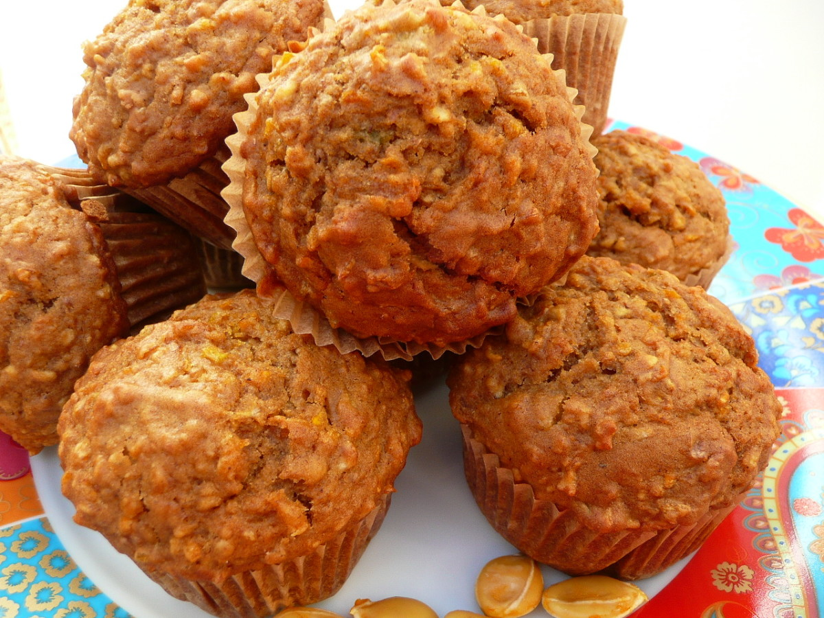 Pumpkin and apple muffins are moist and delicious.