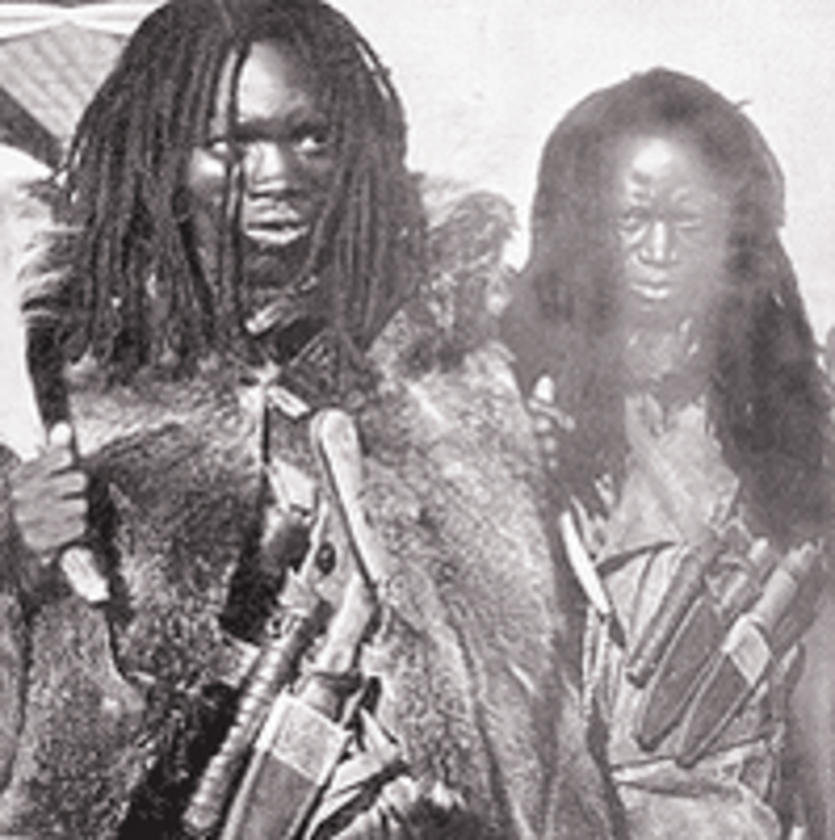 Mau Mau Warriors wearing Dreadlocks as a virtue of rebellion.
