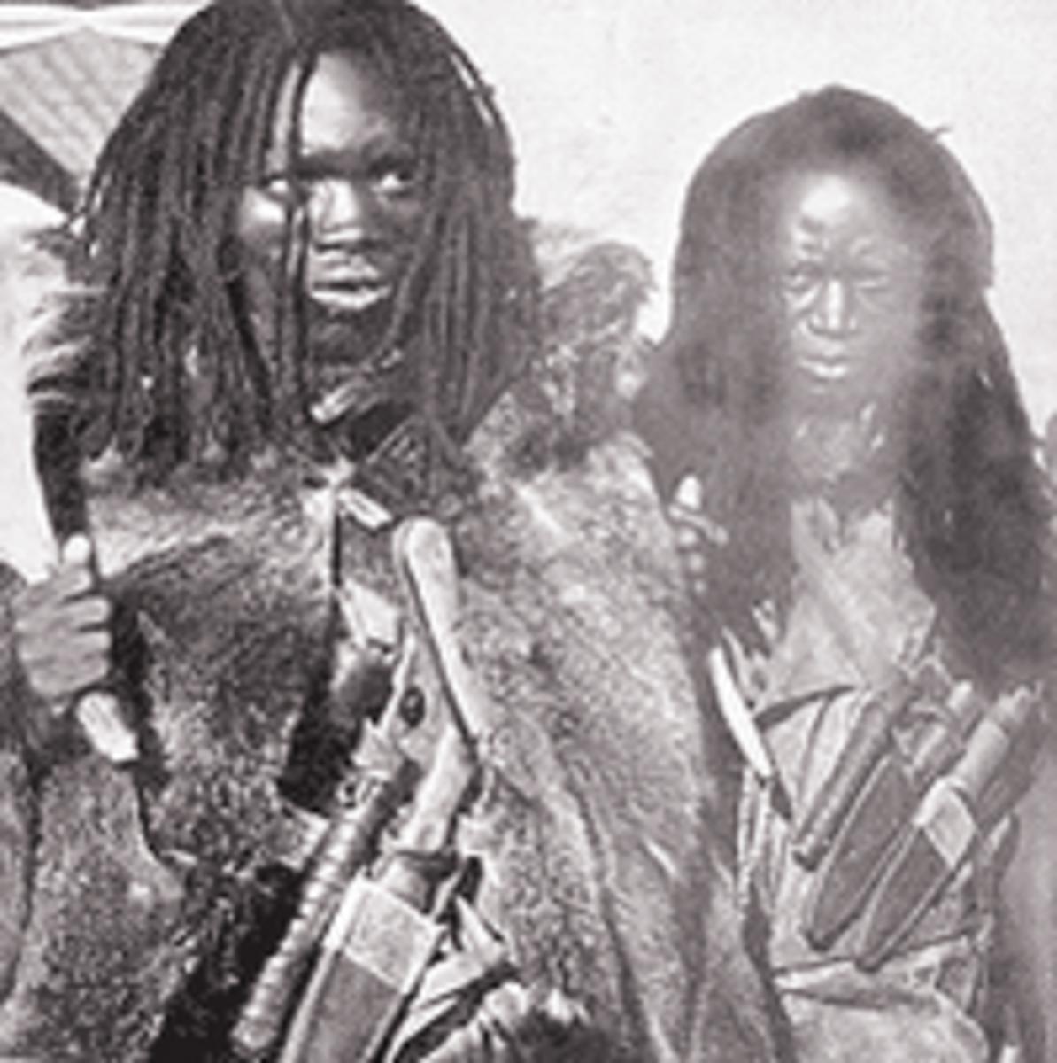 Mau Mau Warriors wearing Dreadlocks as a virtue of rebellion.