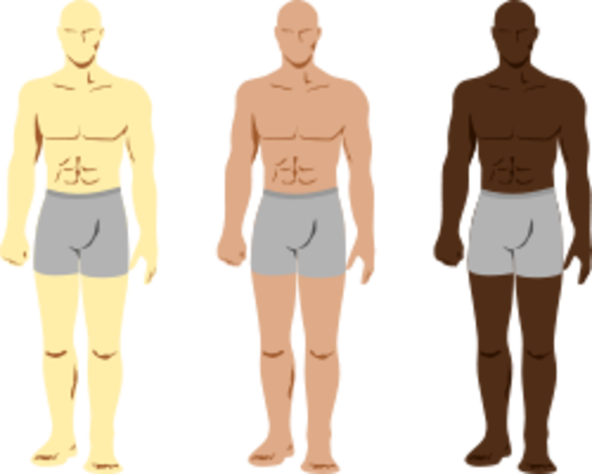 {Image: three men without any detail added to them. They only wear gray boxers.}