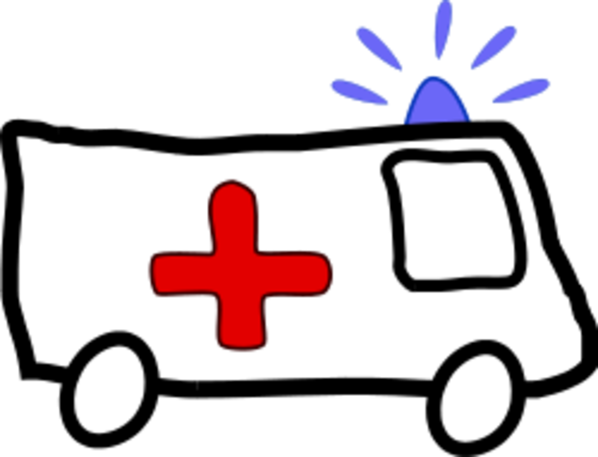 {Image: Simple drawing of an ambulance.}