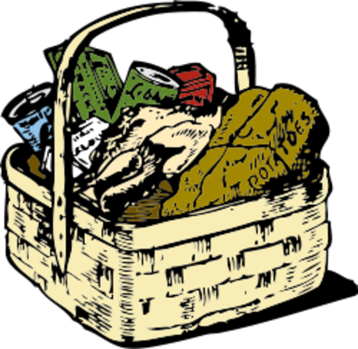 {Image: A basket full of food.}