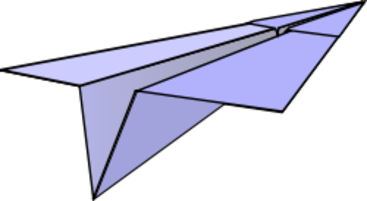 {Image: A paper airplane.}