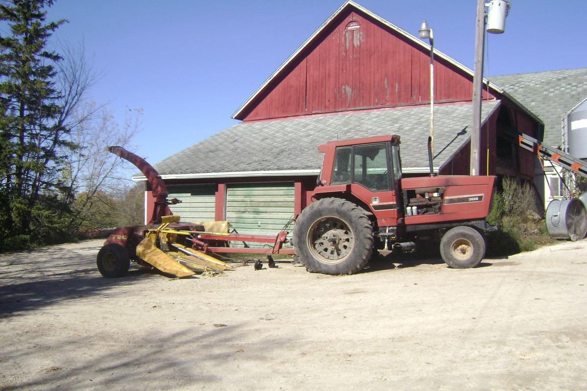 Tractor and Corn Chopper