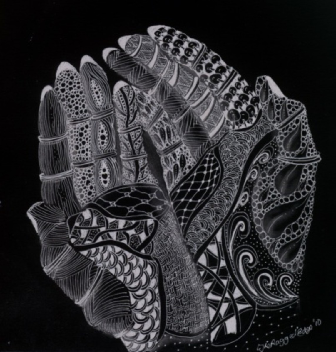 Try turning your zendoodle into a negative image - or use a white pen on black paper.