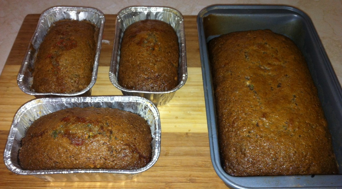 Chocolate Pecan Cherry Zucchini Bread