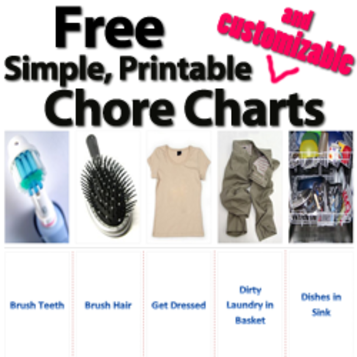 Free Printable Chore Chart Templates that Work