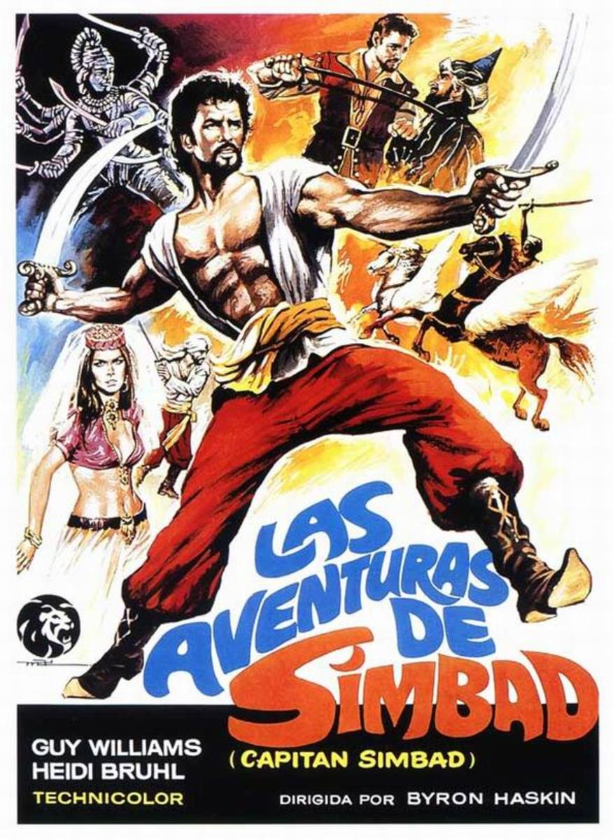 Captain Sinbad (1963) Spanish poster