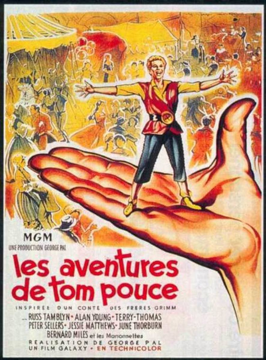 Tom Thumb (1958) French poster