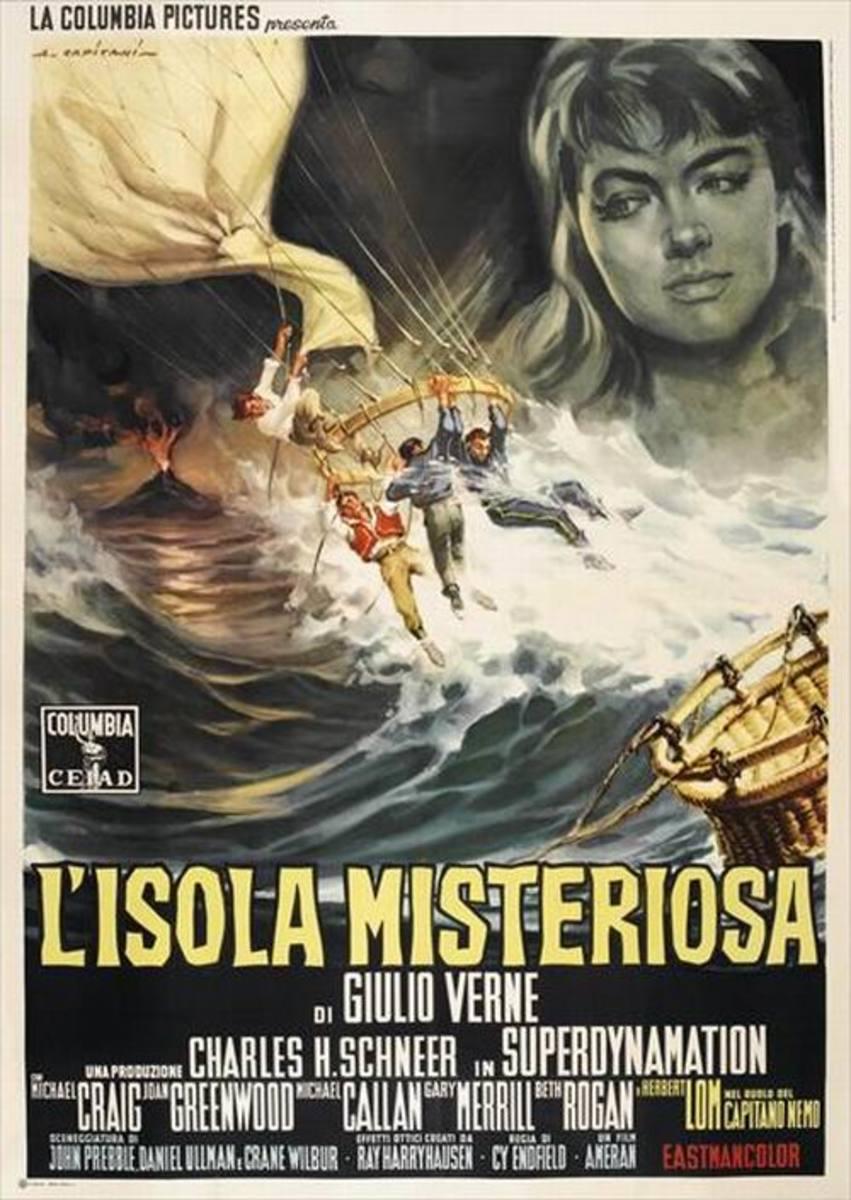 Mysterious Island (1961) Italian poster