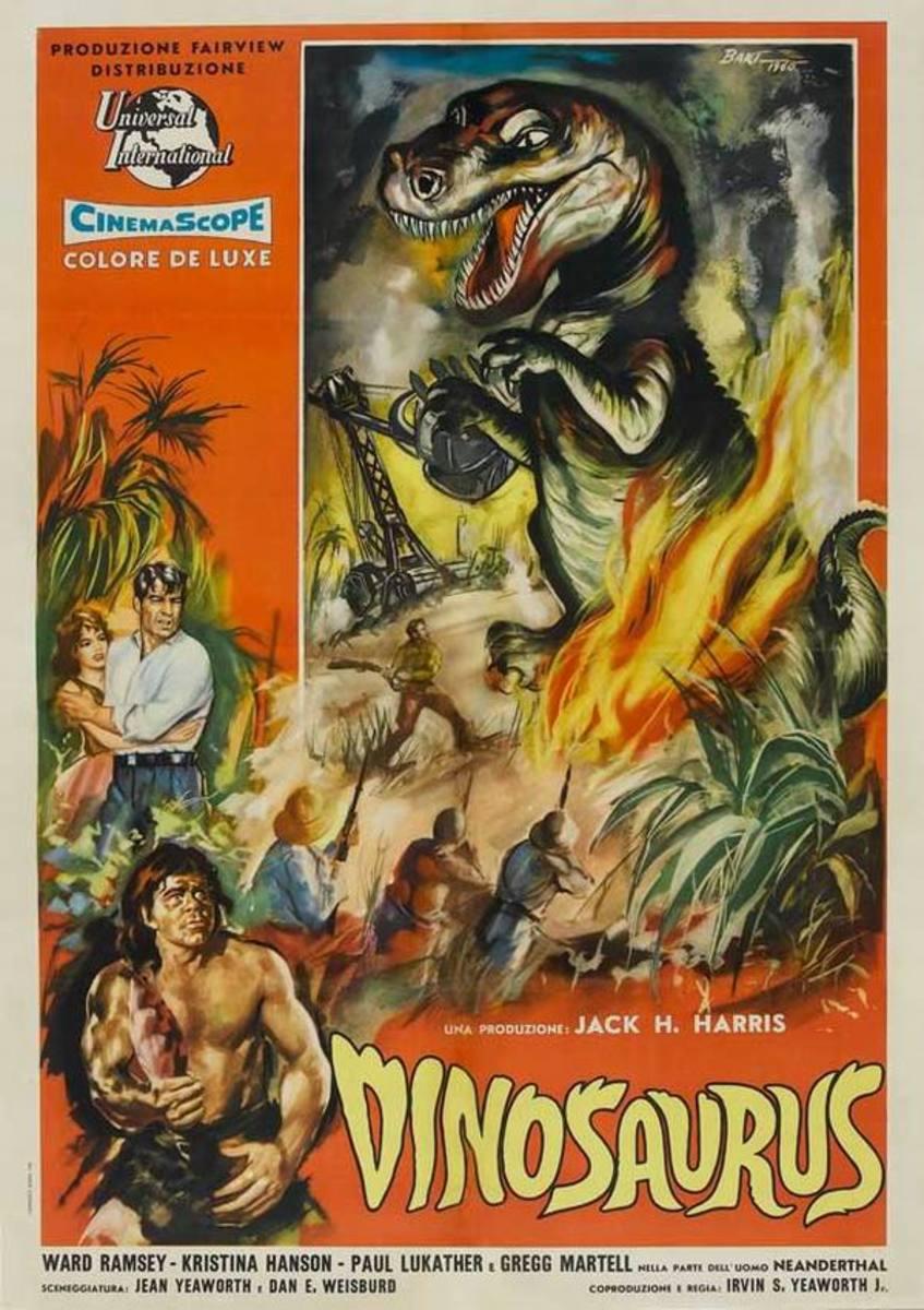 Dinosaurus (1960) Italian poster