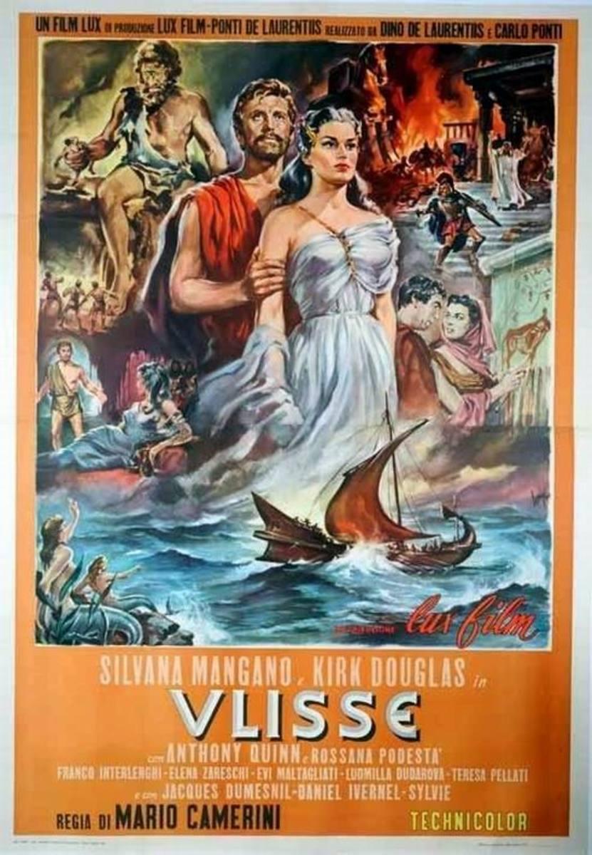 Ulysses (1955) Italian poster