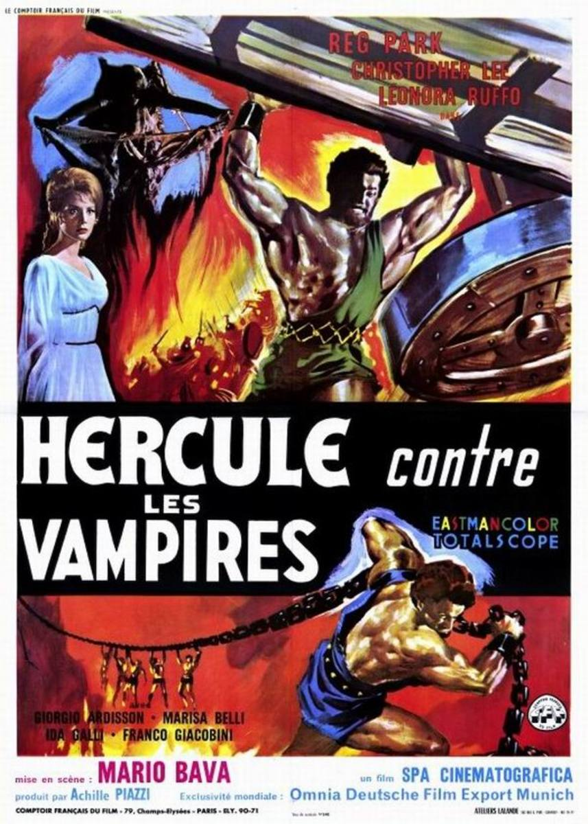 Hercules in the Haunted World (1961) French poster