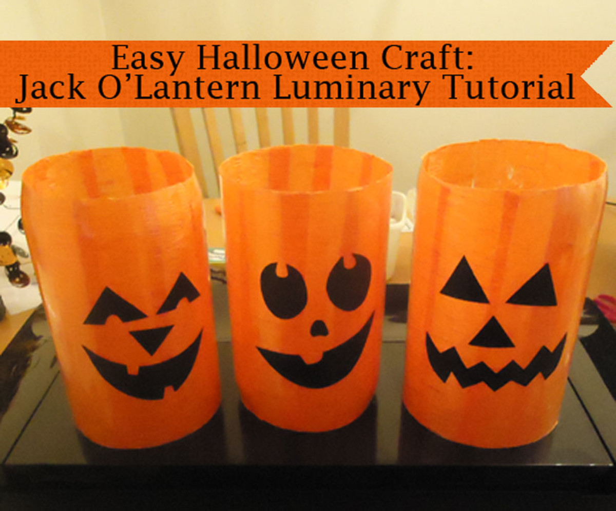 Jack O'Lantern Luminary from a Plastic Soda Bottle
