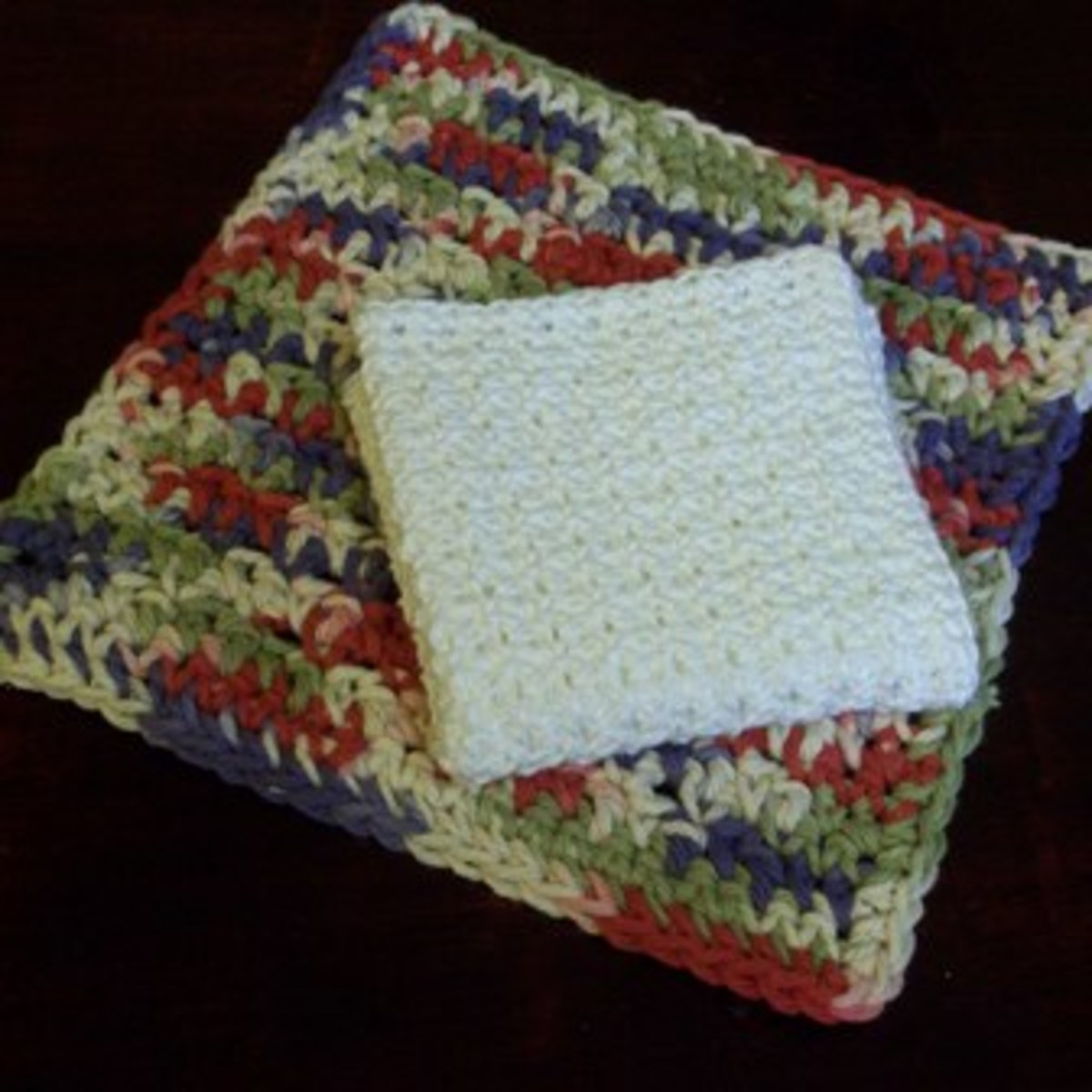 Dish Cloth with Crochet Thread or Worsted Weight Yarn