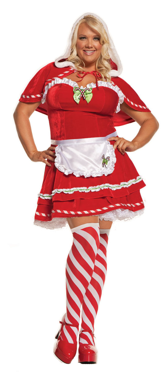 Candy Cane Costume for Full-Size Women
