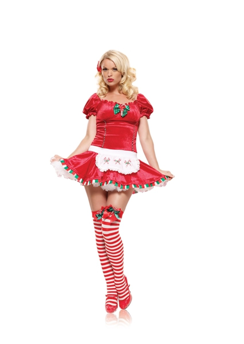 Candy Cane Costume with White Apron