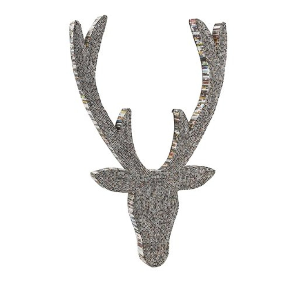 IMAX 89865 Stanley Recycled Magazine Deer Wall Decor