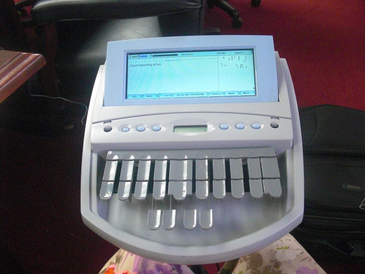 A Typical Steno Machine