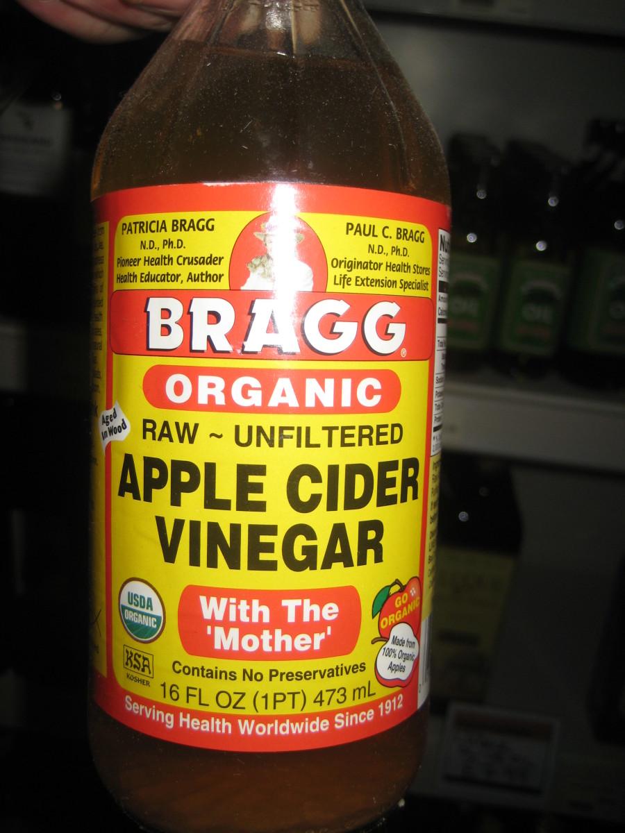 apple vinegar for skin works a treat.