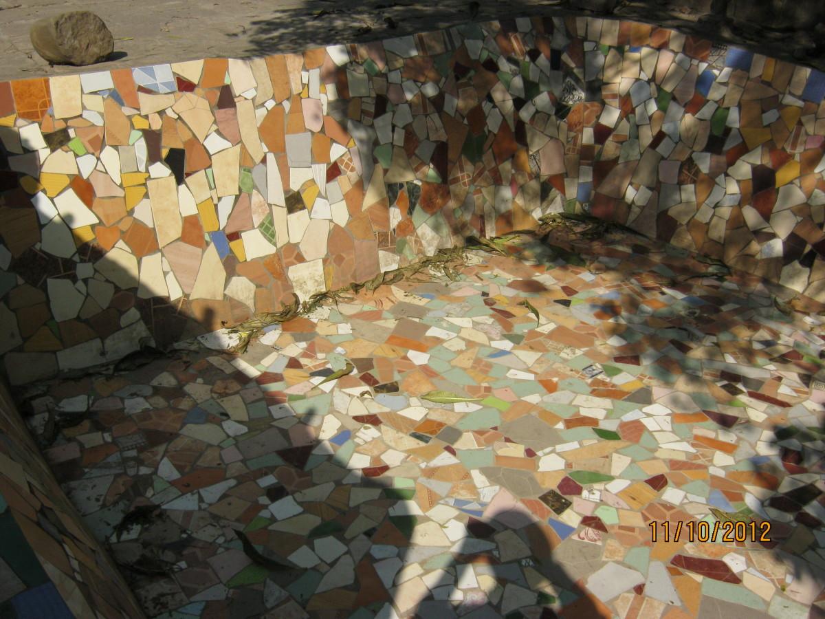 water tank made by using broken ceramic tiles