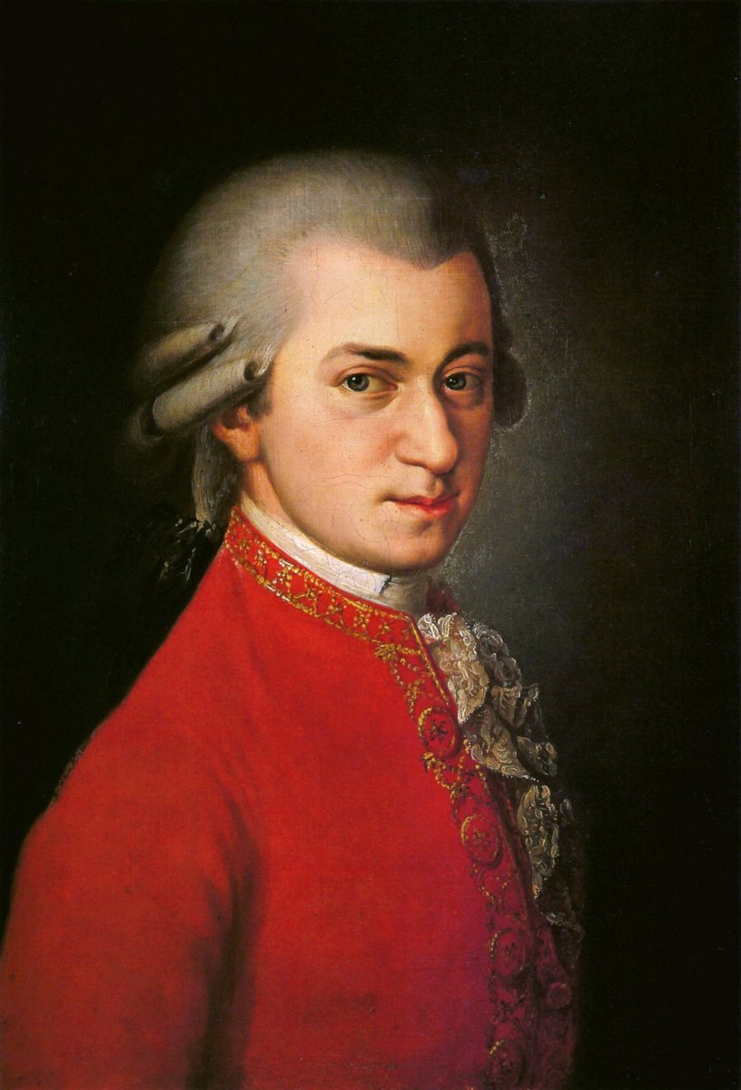 Posthumous portrait of Mozart