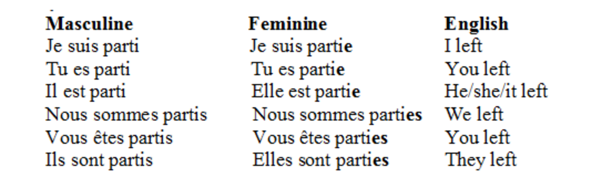 Agreement in Gender and Number with the Subject