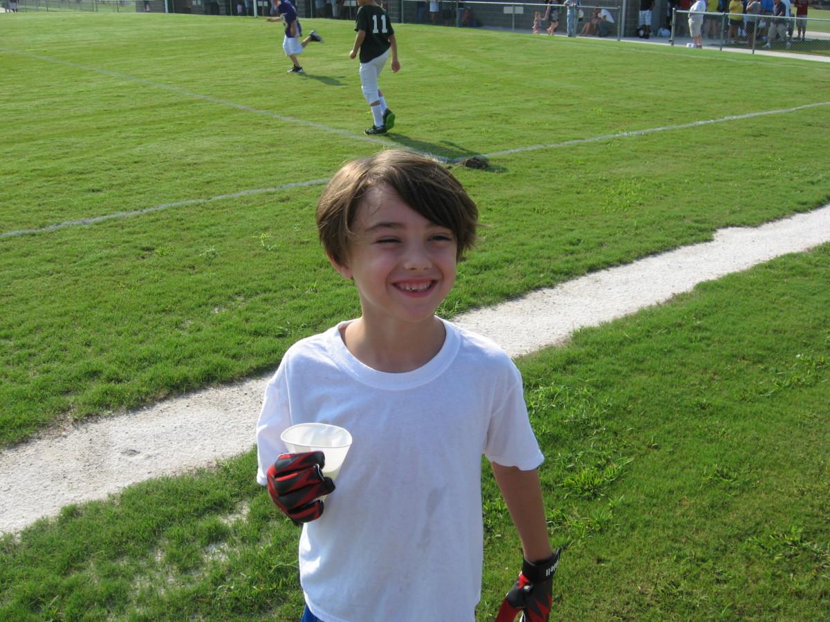 Tristan, after practice.