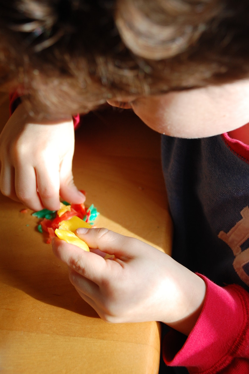 Beeswax helps develop fine motor skills in an engaging and creative way