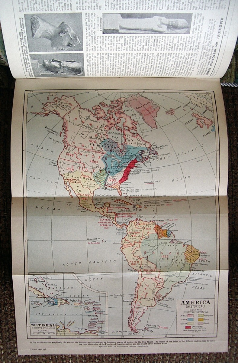 A Historical fold-out map of the Americas