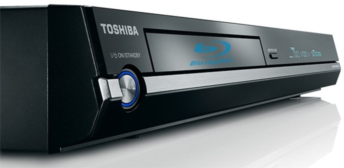 Some Toshiba Blu-ray players have USB ports on the front while others have it on the back.
