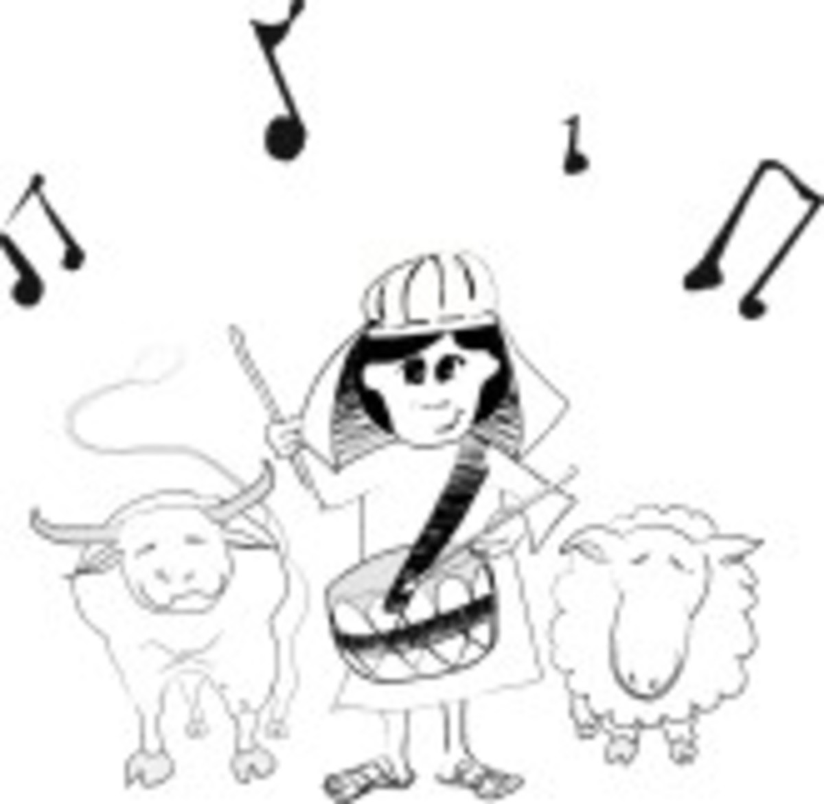 music notes and little drummer boy