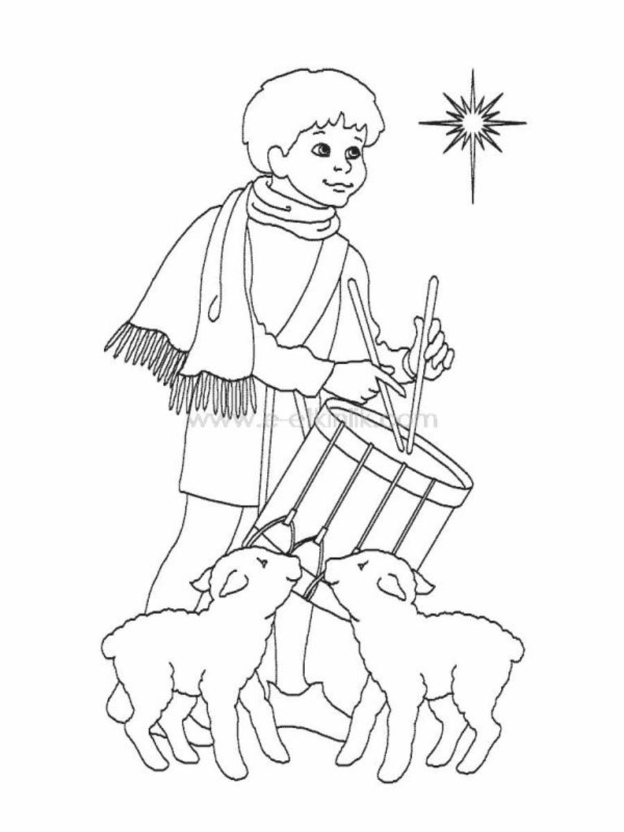 drummer boy and two lambs