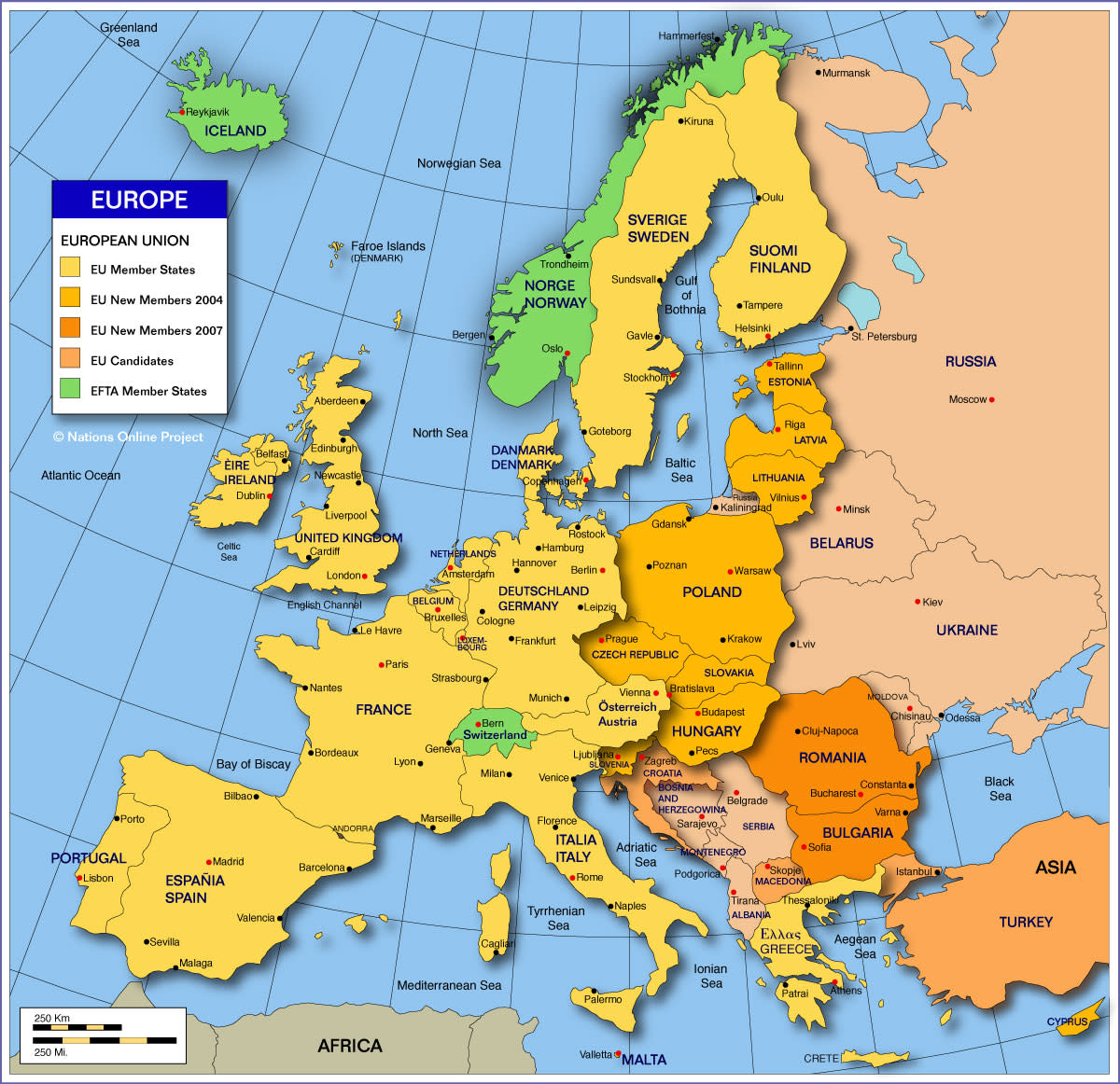 Make sure you have a good map of Europe to plan your trip.
