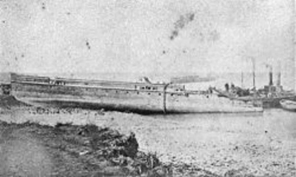 Half of Princess Alice raised and beached