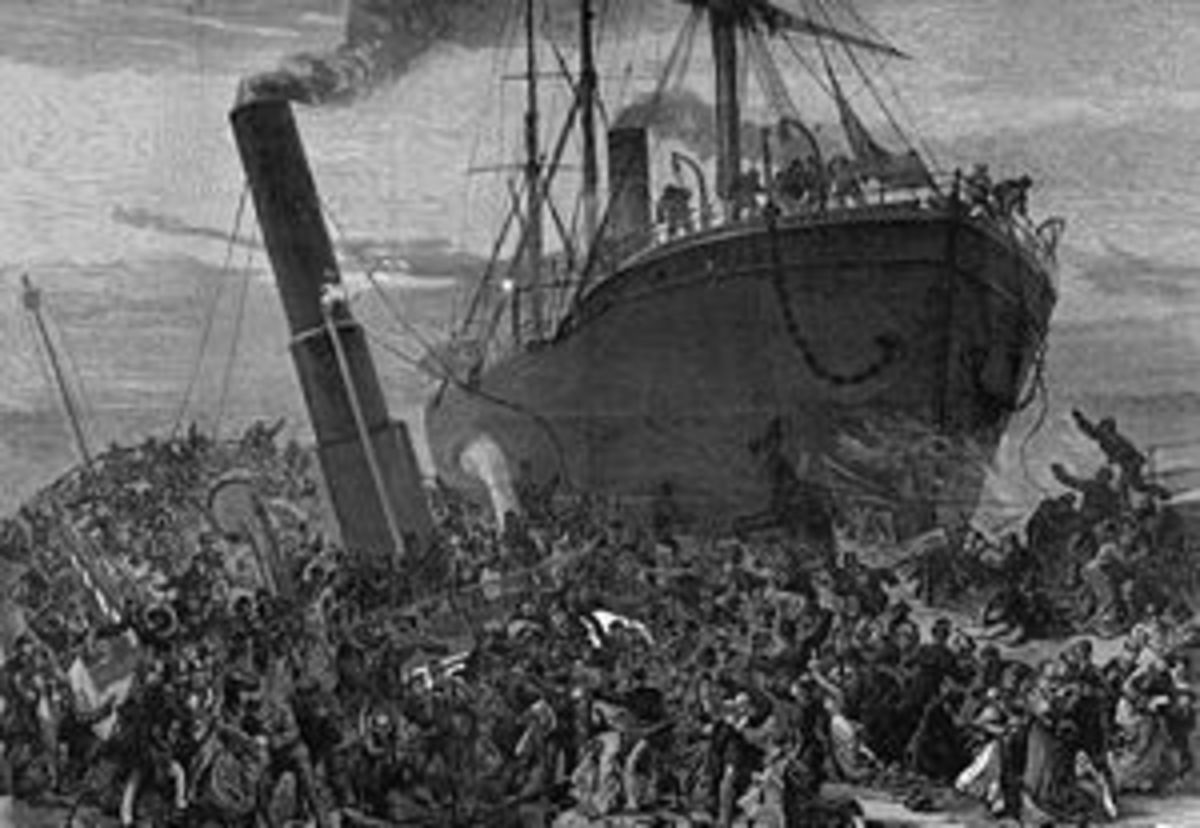 SS Princess Alice in collision with the collier SS Bywell Castle