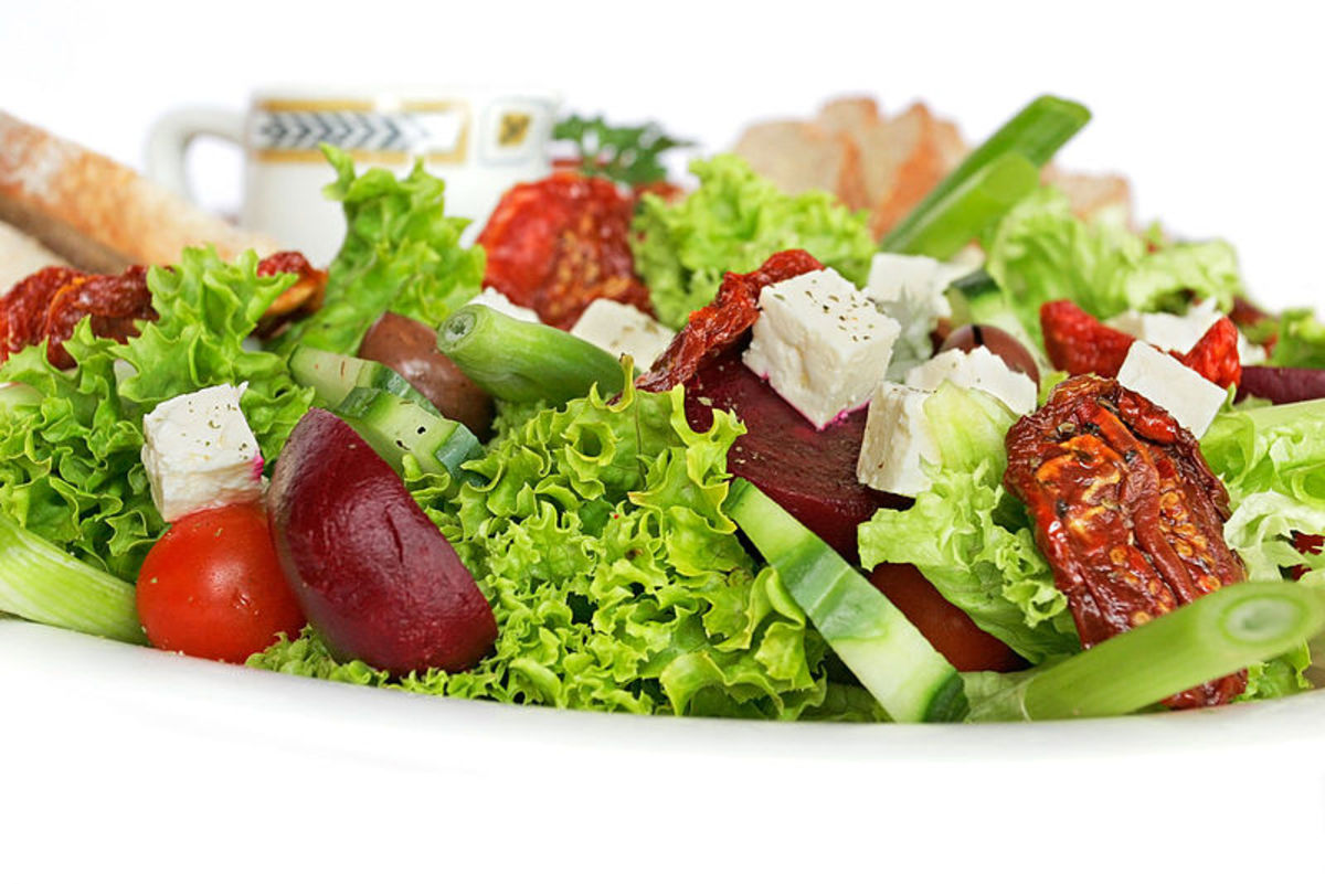 Salad can be used to increase a persons yin energies.