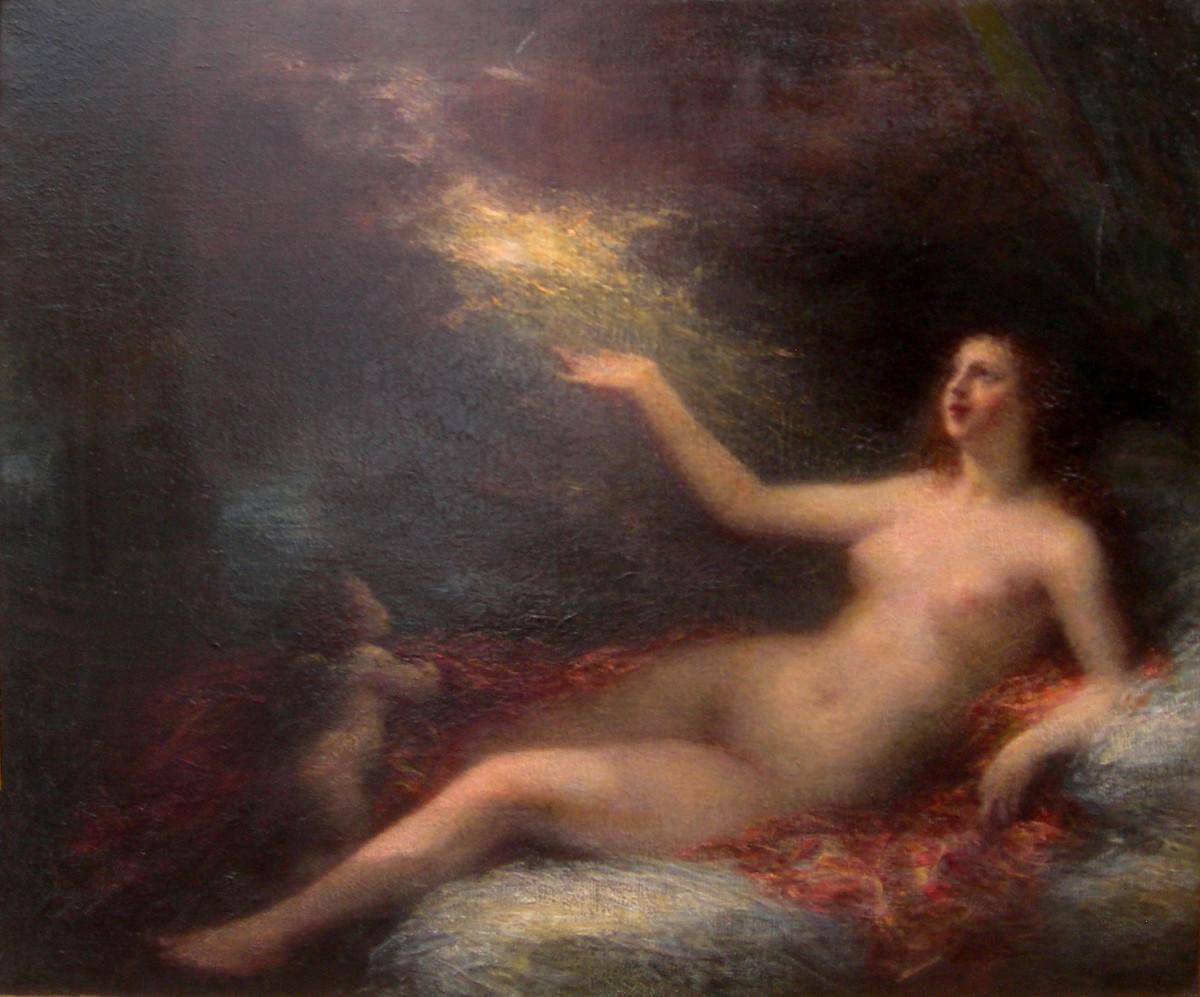 Danae by Henri Fantin Latour (1836-1904)