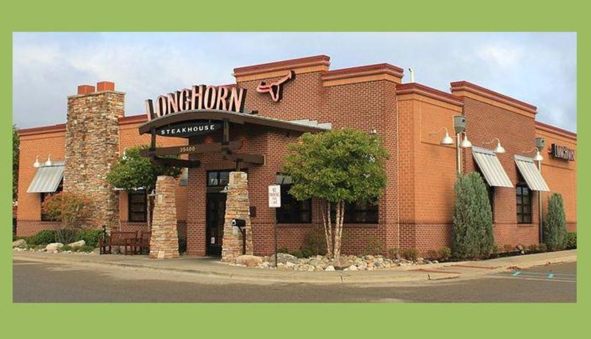 Here is a photo of the Longhorn Steakhouse.  This particular restaurant is located in Westland, Michigan.