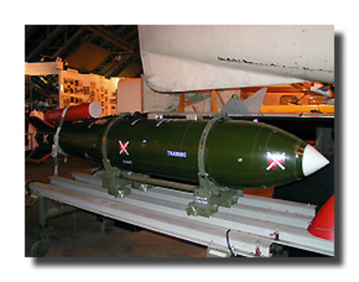 WE177 air launched nuclear bomb