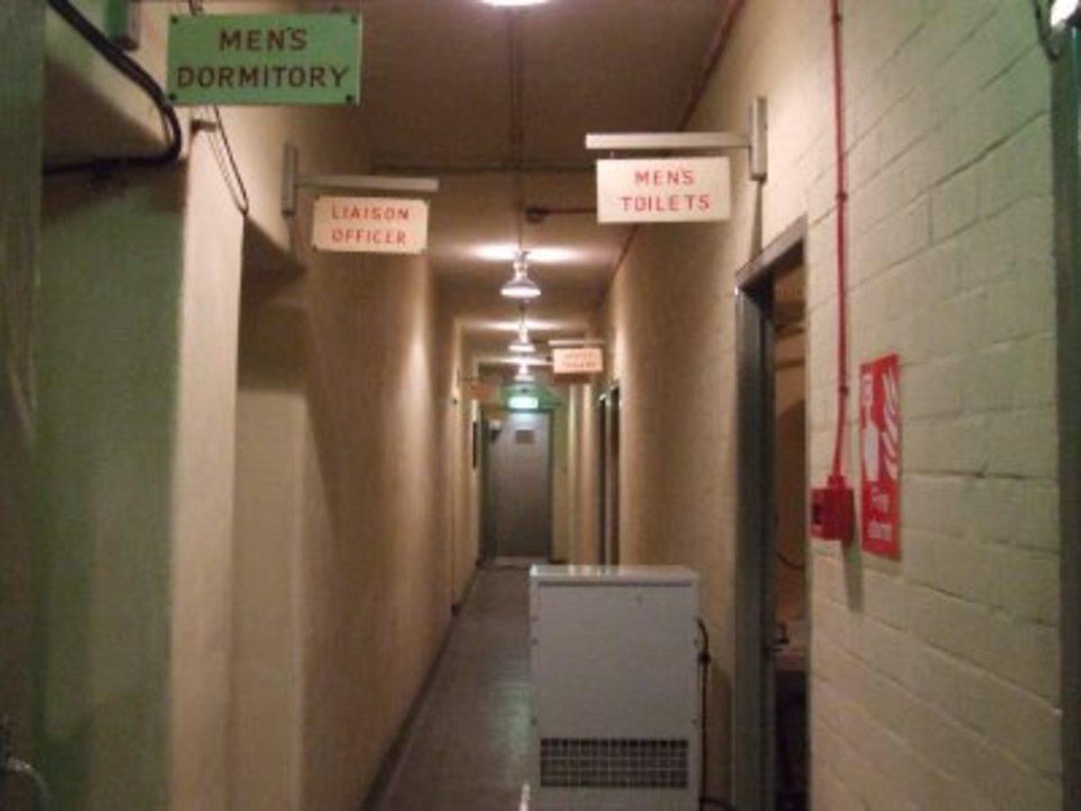 Inside Woodlands Park bunker