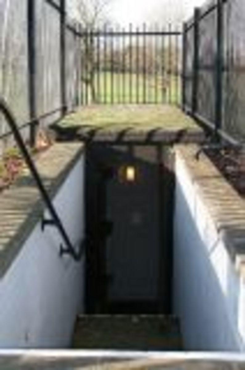 Entrance door to Civil Defence Woodlands Park