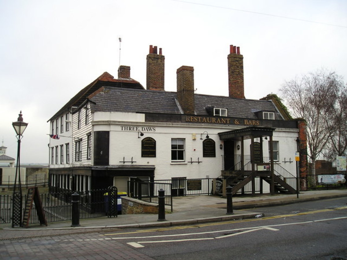 The Three Daws public house Gravesend