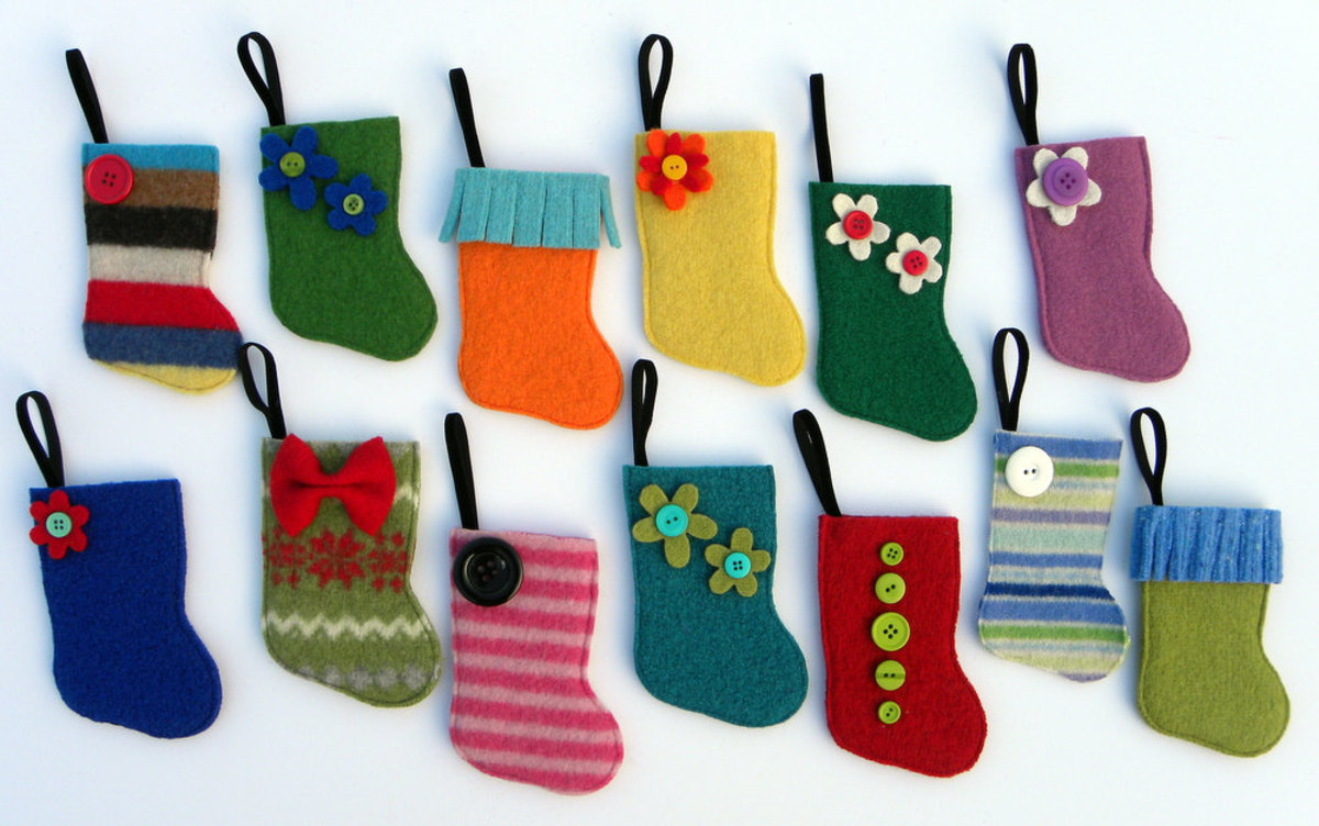 Mini-stockings for advent ideas